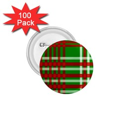 Christmas Colors Red Green White 1.75  Buttons (100 pack)