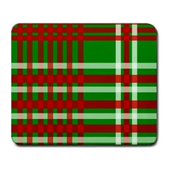 Christmas Colors Red Green White Large Mousepads