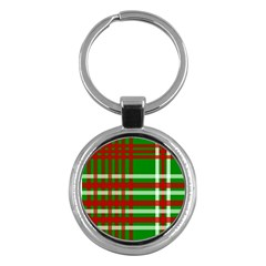 Christmas Colors Red Green White Key Chains (Round)