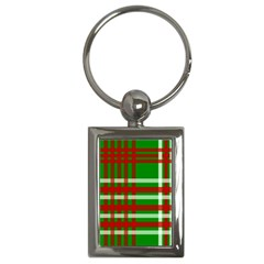 Christmas Colors Red Green White Key Chains (rectangle)