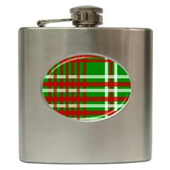 Christmas Colors Red Green White Hip Flask (6 oz)