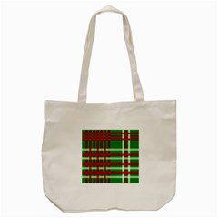 Christmas Colors Red Green White Tote Bag (Cream)