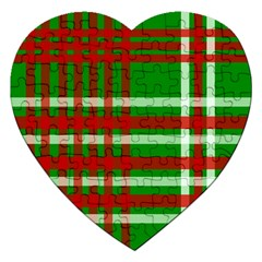 Christmas Colors Red Green White Jigsaw Puzzle (Heart)