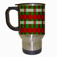 Christmas Colors Red Green White Travel Mugs (White)