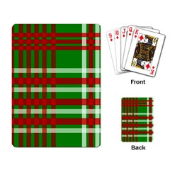 Christmas Colors Red Green White Playing Card