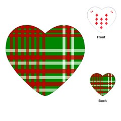 Christmas Colors Red Green White Playing Cards (Heart)
