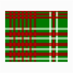 Christmas Colors Red Green White Small Glasses Cloth (2-Side)