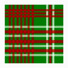 Christmas Colors Red Green White Medium Glasses Cloth (2-Side)