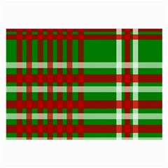 Christmas Colors Red Green White Large Glasses Cloth (2-Side)