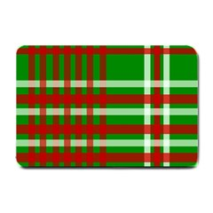Christmas Colors Red Green White Small Doormat