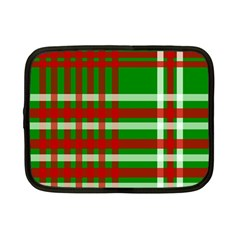 Christmas Colors Red Green White Netbook Case (Small)