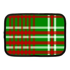 Christmas Colors Red Green White Netbook Case (Medium)
