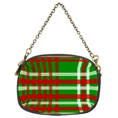 Christmas Colors Red Green White Chain Purses (One Side)