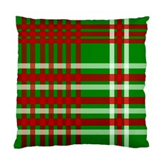 Christmas Colors Red Green White Standard Cushion Case (Two Sides)