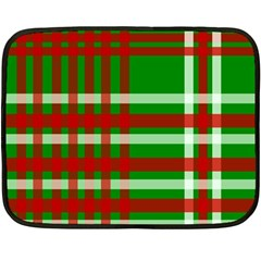 Christmas Colors Red Green White Double Sided Fleece Blanket (Mini)