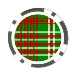 Christmas Colors Red Green White Poker Chip Card Guard (10 pack)