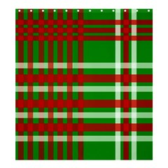 Christmas Colors Red Green White Shower Curtain 66  x 72  (Large)