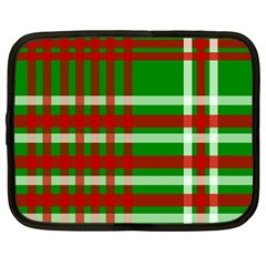 Christmas Colors Red Green White Netbook Case (XL)