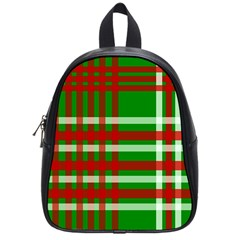 Christmas Colors Red Green White School Bags (Small)