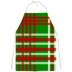 Christmas Colors Red Green White Full Print Aprons