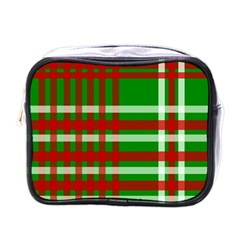 Christmas Colors Red Green White Mini Toiletries Bags