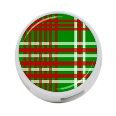 Christmas Colors Red Green White 4-Port USB Hub (One Side)