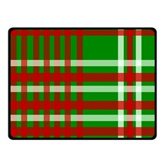 Christmas Colors Red Green White Fleece Blanket (Small)