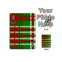 Christmas Colors Red Green White Playing Cards 54 (Mini)