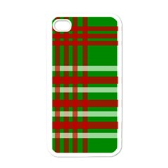 Christmas Colors Red Green White Apple iPhone 4 Case (White)