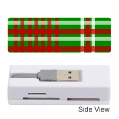 Christmas Colors Red Green White Memory Card Reader (Stick)