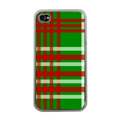 Christmas Colors Red Green White Apple iPhone 4 Case (Clear)