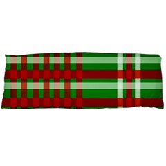 Christmas Colors Red Green White Body Pillow Case Dakimakura (Two Sides)
