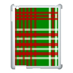 Christmas Colors Red Green White Apple iPad 3/4 Case (White)