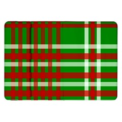Christmas Colors Red Green White Samsung Galaxy Tab 8.9  P7300 Flip Case