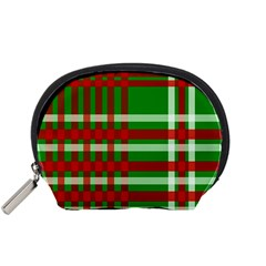 Christmas Colors Red Green White Accessory Pouches (Small)