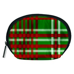 Christmas Colors Red Green White Accessory Pouches (Medium)