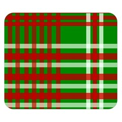 Christmas Colors Red Green White Double Sided Flano Blanket (Small)