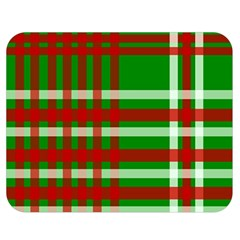 Christmas Colors Red Green White Double Sided Flano Blanket (Medium)