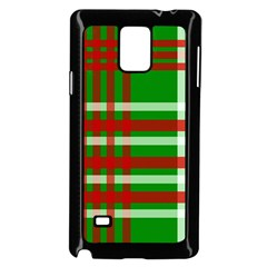 Christmas Colors Red Green White Samsung Galaxy Note 4 Case (Black)