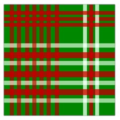 Christmas Colors Red Green White Large Satin Scarf (Square)
