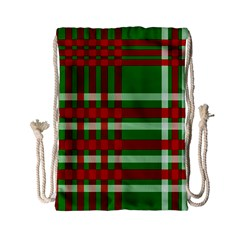 Christmas Colors Red Green White Drawstring Bag (Small)
