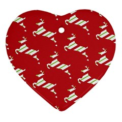 Christmas Card Christmas Card Heart Ornament (Two Sides)