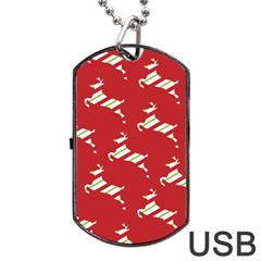Christmas Card Christmas Card Dog Tag USB Flash (One Side)