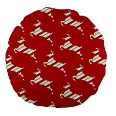 Christmas Card Christmas Card Large 18  Premium Round Cushions