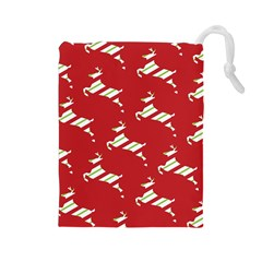 Christmas Card Christmas Card Drawstring Pouches (Large)