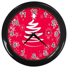 Christmas Tree Wall Clocks (Black)