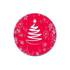 Christmas Tree Magnet 3  (Round)