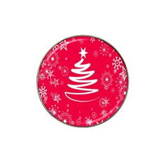 Christmas Tree Hat Clip Ball Marker (4 pack)