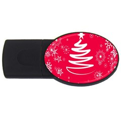 Christmas Tree USB Flash Drive Oval (4 GB)