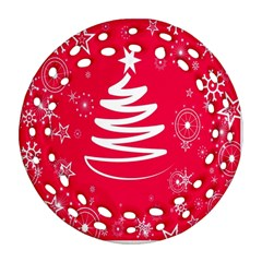 Christmas Tree Round Filigree Ornament (Two Sides)